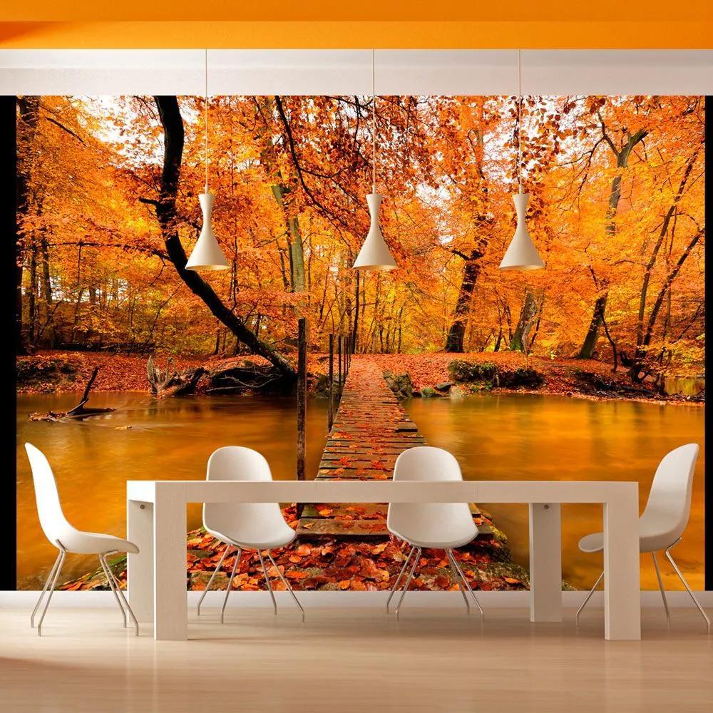 Fototapeta - Autumn bridge 200x154