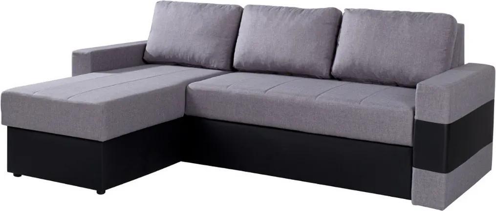 Expedo Rohová rozkladacia sedačka GOLD, 80x236x160 cm, lux 05/soft 11, ľavý roh