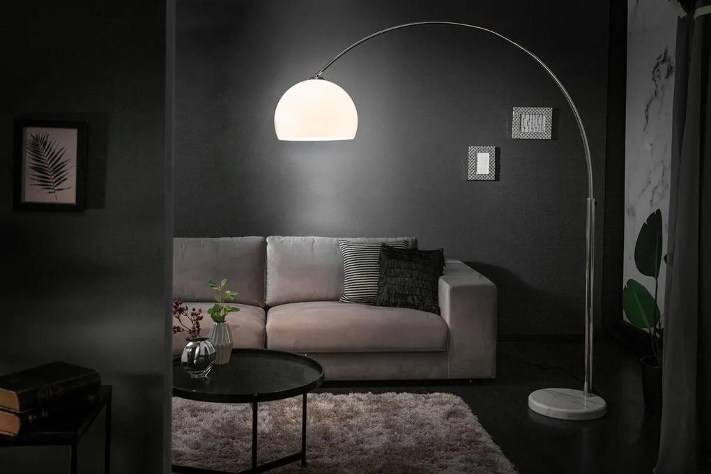 Dizajnová stojanová lampa Arch biela