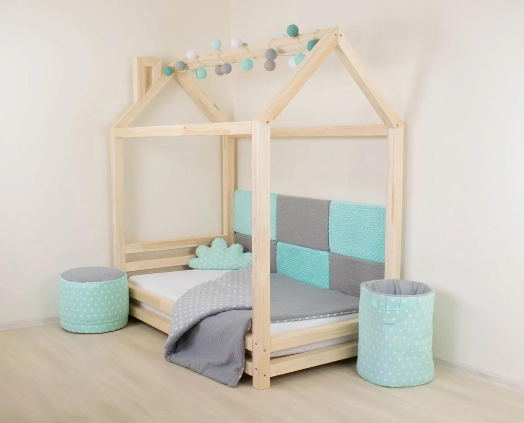 MAXMAX Detská dizajnová posteľ z masívu 160x80 cm DOMČEK 1 bez šuplíku 160x80 NIE