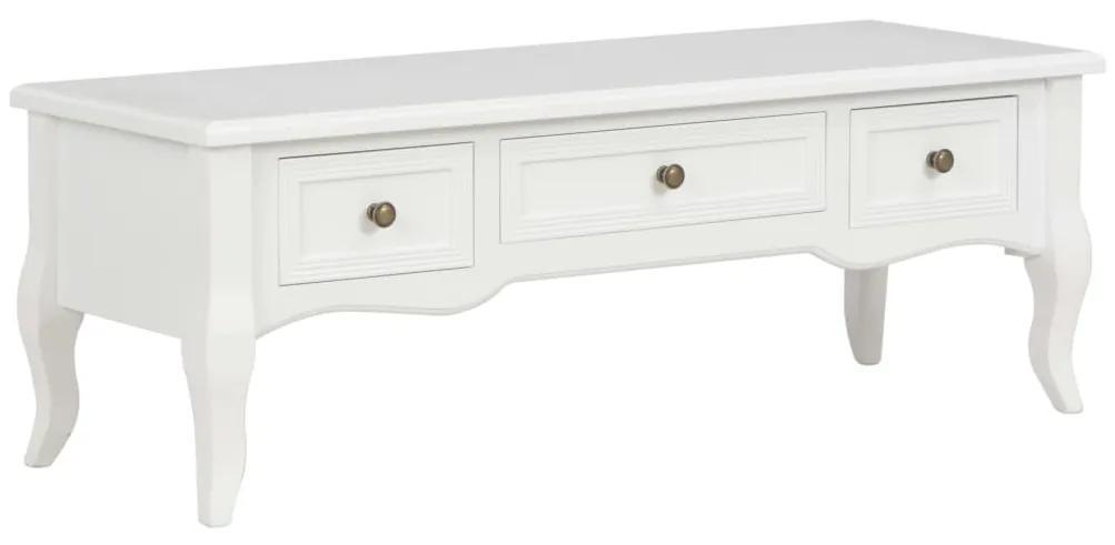 vidaXL TV stolík biely 100x35x35 cm drevený