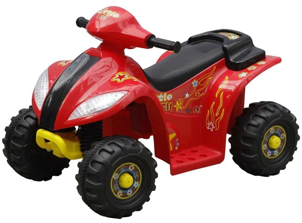 vidaXL Elektrická štvorkolka pre deti, červená s čiernou farbou