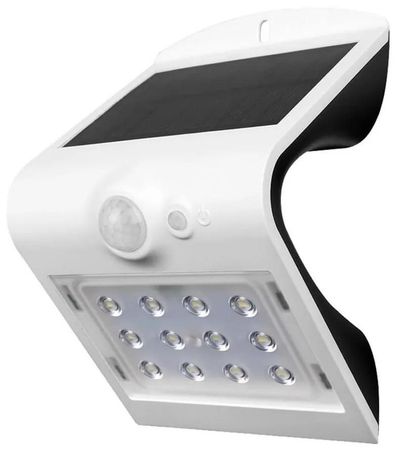 V-Tac LED Solárne nástenné svietidlo so senzorom LED/1.5W/3,7V IP65 biela VT0277