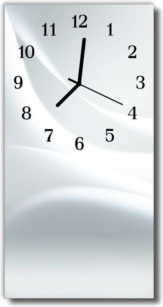 Skleněné hodiny vertikální Umění Bílá grafika