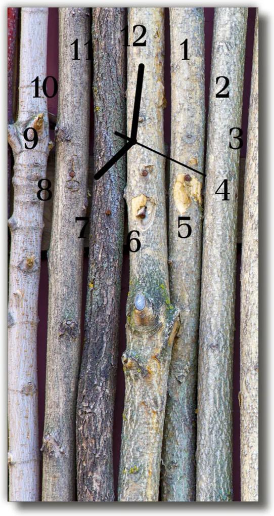 Nástěnné hodiny vertikální Příroda Dřevo je šedo