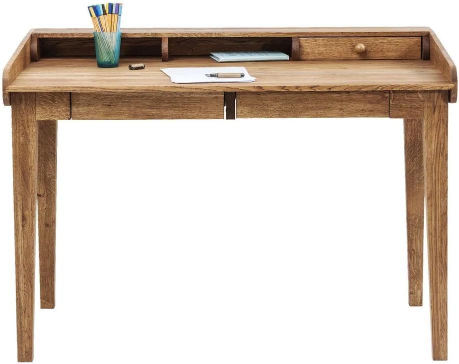 Pracovný stôl z masívneho dubového dreva Kare Design Attento ... fe542ed7cd1