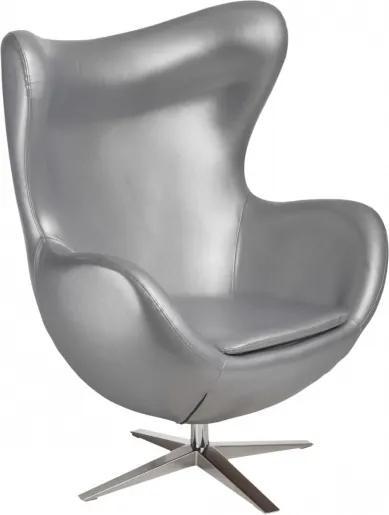 Křeslo Egg, ekokůže - stříbrná 82405 CULTY