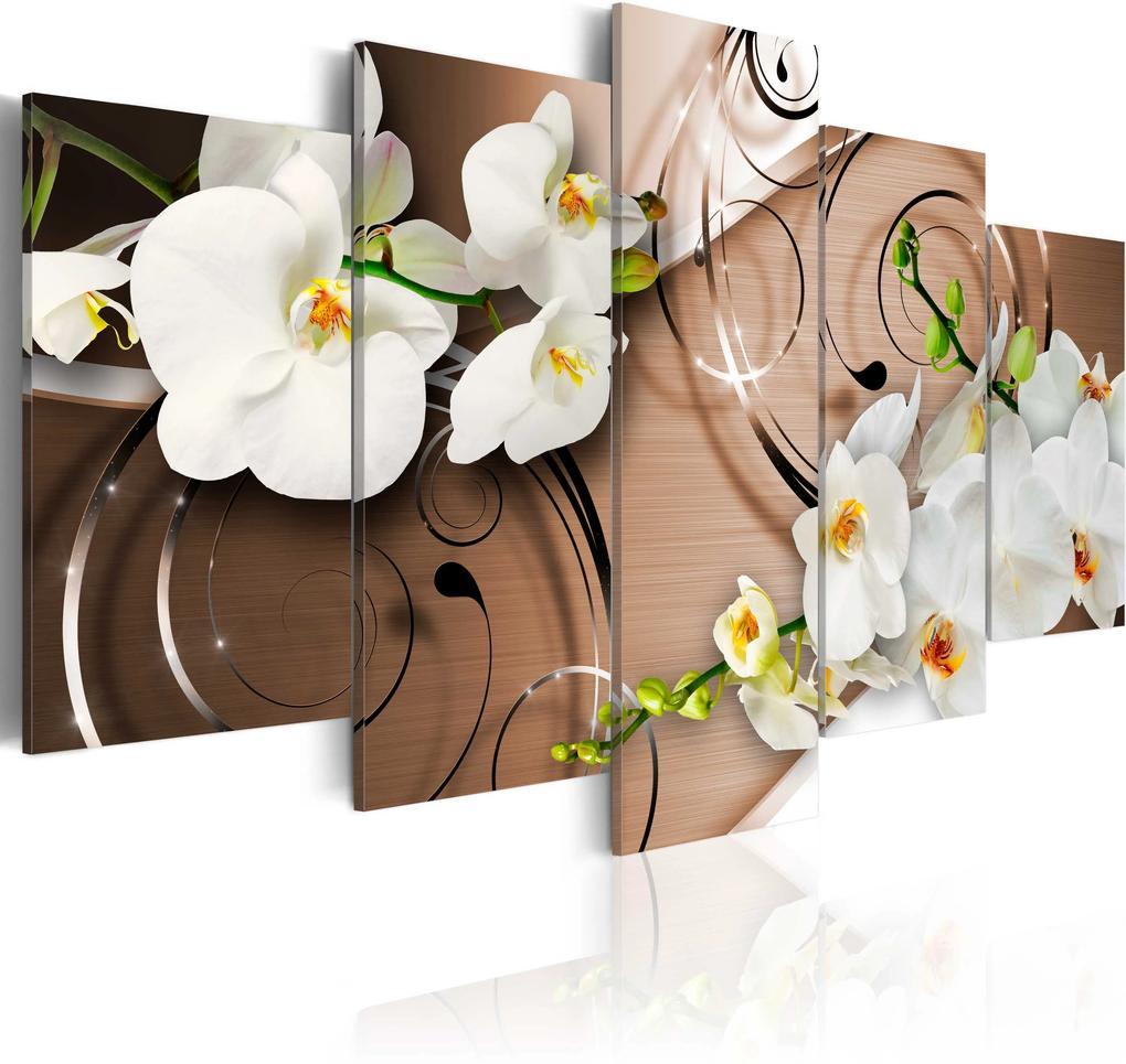 Obraz - Ivory orchids 100x50