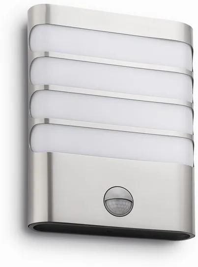 Philips 17274/47/16 Raccoon IR exteriérové nástenné svietidlo LED 3W 270lm 2700K IP44, nerez