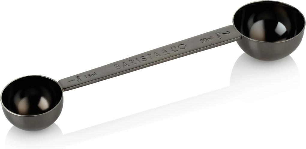 Nerezová dvojodmerka 15/30 ml. BARISTA&Co, čierna 6BC006-004