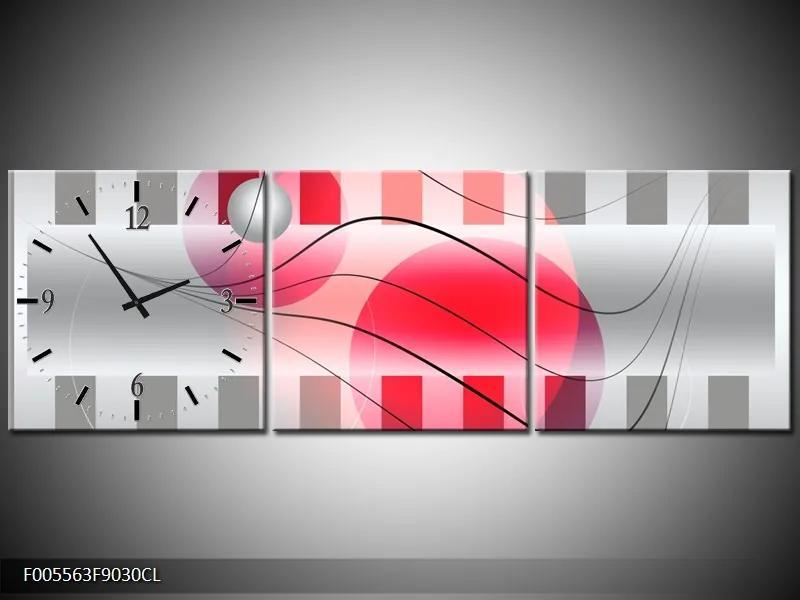 Obraz s hodinami v ľavom dielu