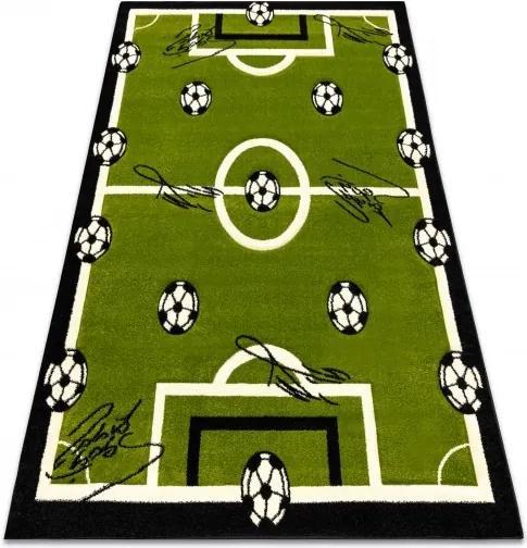 3kraft Detský koberec Pilly Football zelený