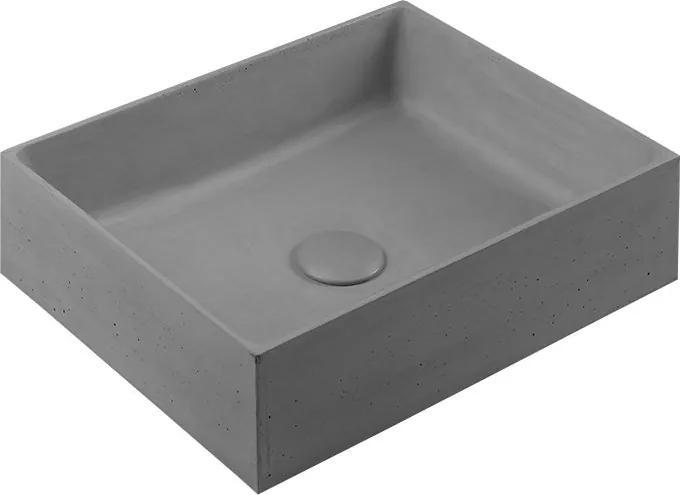 Formigo FG019 betónové umývadlo, 47,5x13x36,5 cm, svetlo šedé