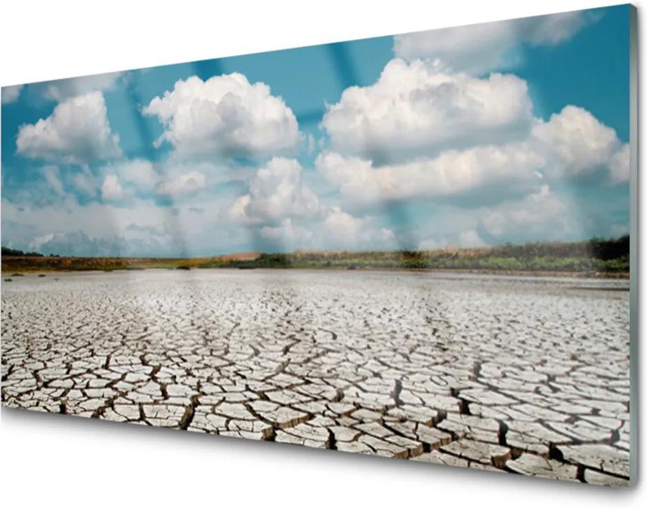 Akrylové obraz Vyschlá řeka krajina