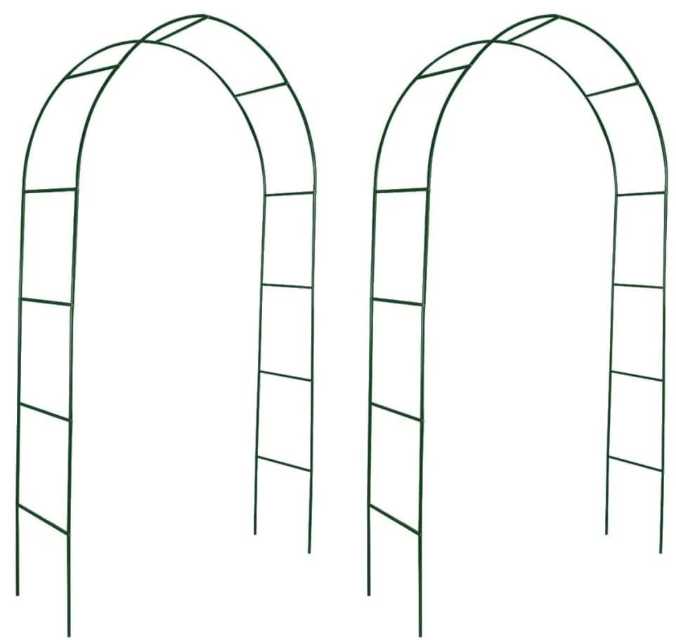 vidaXL Záhradný oblúk pre popínavé rastliny 2ks