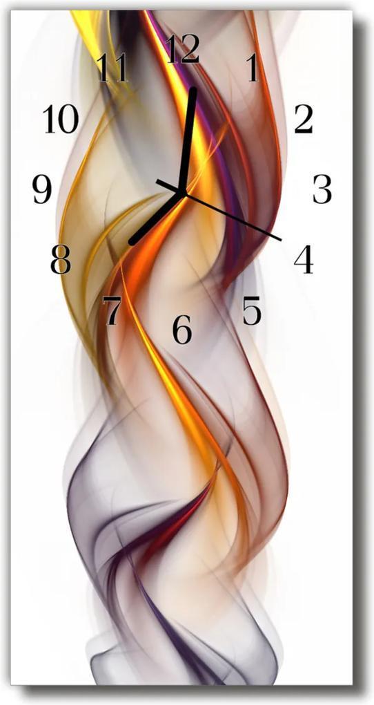 Skleněné hodiny vertikální Umění Barevné abstrakce