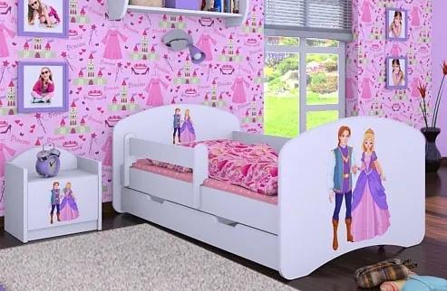 MAXMAX Detská posteľ so zásuvkou 180x90cm PRINC A PRINCEZNÁ