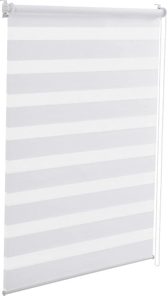 """[neu.holz]® Roletožalúzia """"Zebra"""" - tienenie - bez vŕtania (40x150cm) biela"""