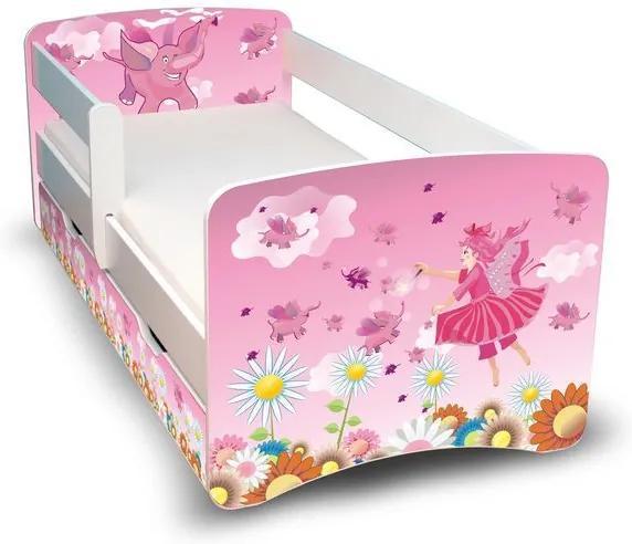MAXMAX Detská posteľ so zásuvkou 160x80 cm - VÍLA II 160x80 pre dievča ÁNO
