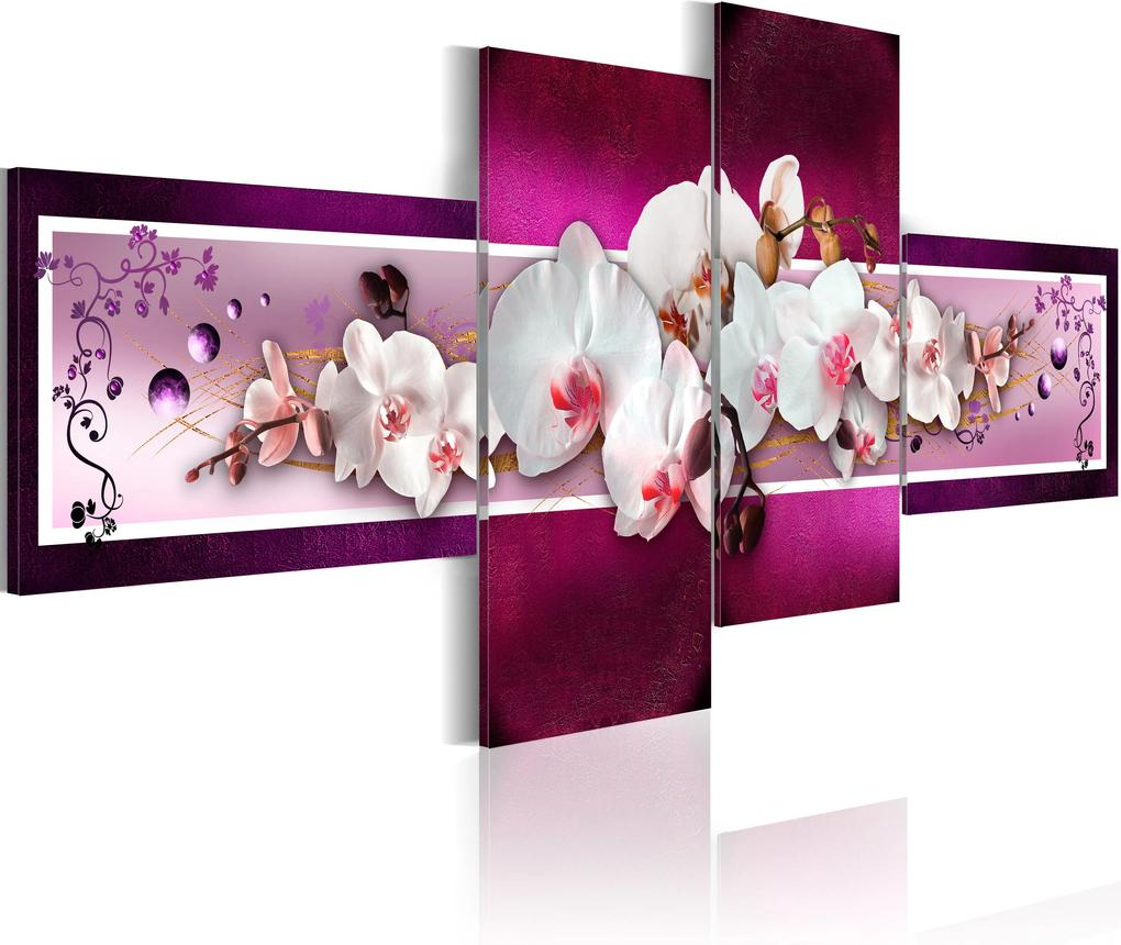 Obraz - Romantic orchids 100x45