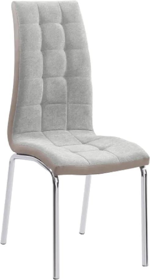 Jedálenská stolička, sivá/béžová/chróm, GERDA NEW
