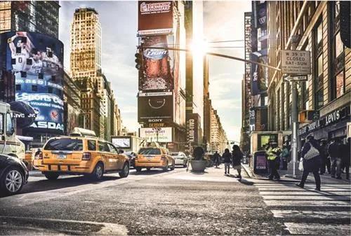 Vliesové fototapety, rozmer 368 cm x 248 cm, Times Square, Komar XXL4-008