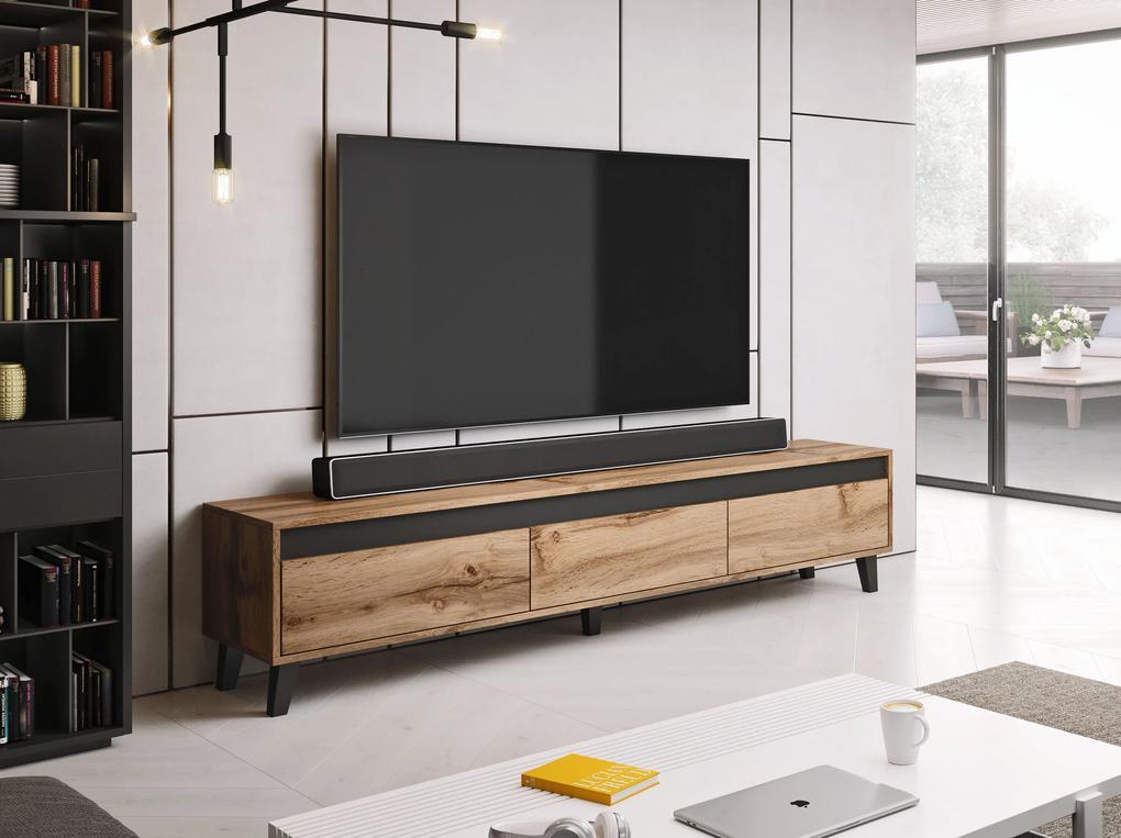 Cama Meble Televízny stolík NORD, Wotan / antracit