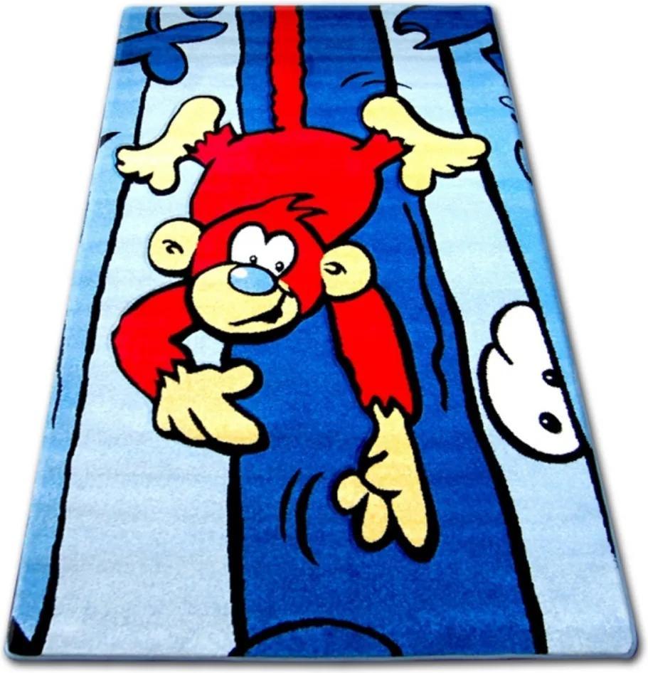 Detský kusový koberec Opičiak modrý, Velikosti 240x330cm