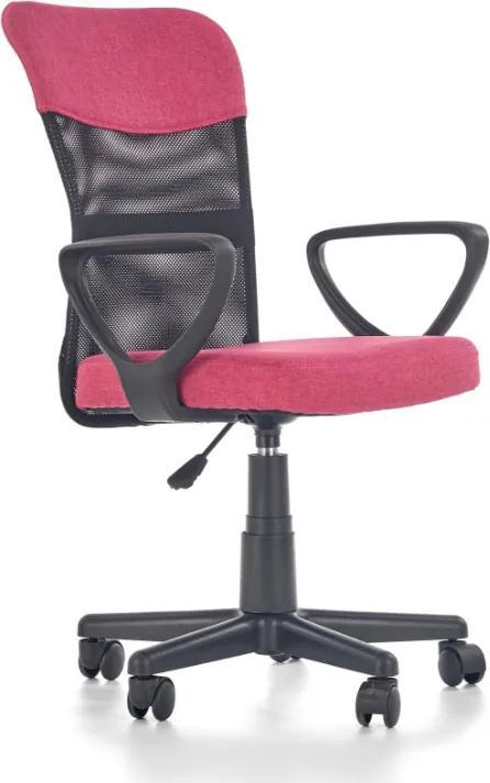 MAXMAX Detská otočná stolička TIMMY růžovočierna