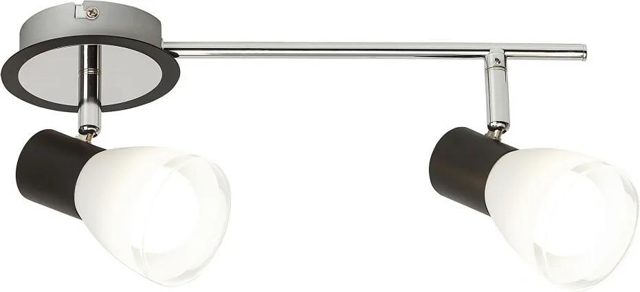 Rábalux Ati 5977 Stropné Svietidlá čierny biely E14 2x MAX 40W 33,5 x 16,5 x 11 cm