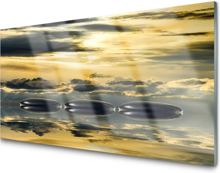 Akrylové obraz Kameny voda umění