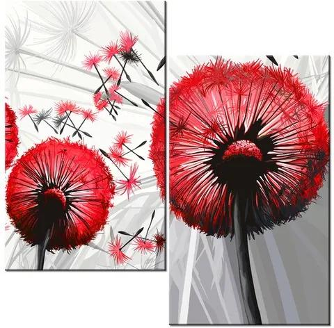 Tlačený obraz Krásne červené púpavy 60x60cm 4025A_2A