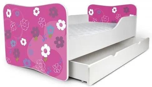 MAXMAX Detská posteľ so zásuvkou BARBIE + matrac ZADARMO