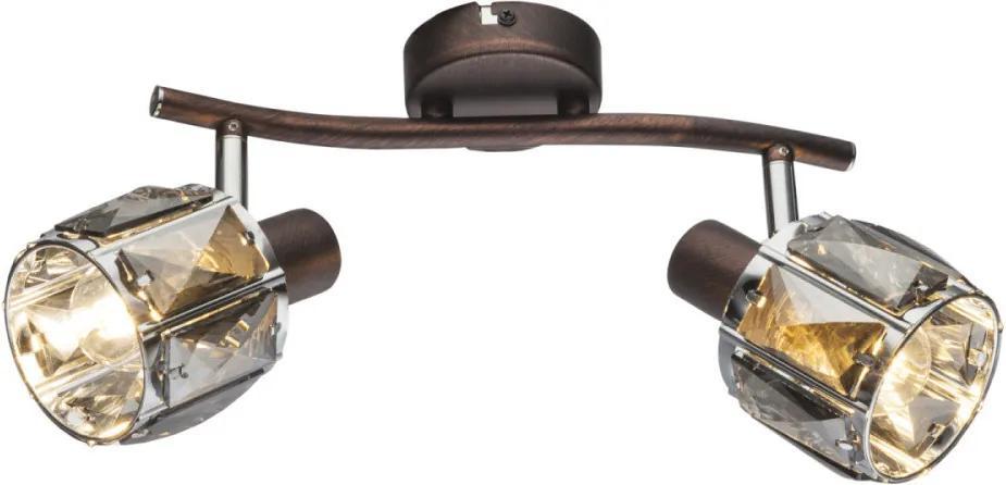 Globo 54357-2 Stropné Svietidlá bronz priesvitný 2 x E14 max. 40W 28 x 18 cm