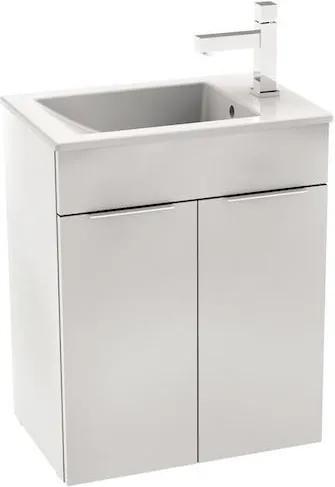 Skrinka s umývadlom Jika Cube 50,5 cm, biela H4536411763001
