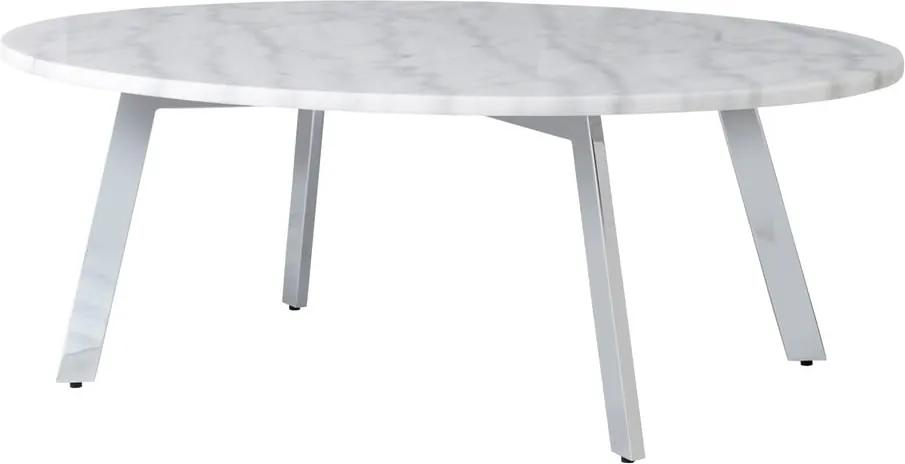 Biely mramorový konferenčný stolík RGE Accent, dĺžka 100 cm