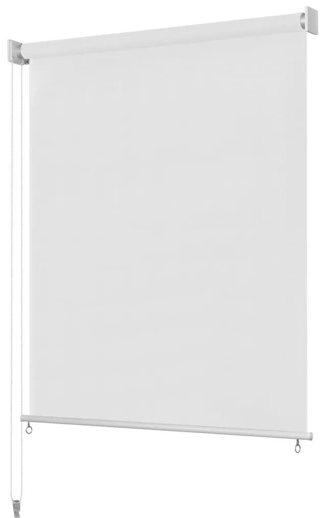 vidaXL Vonkajšia zatemňovacia roleta, 300x230 cm, biela