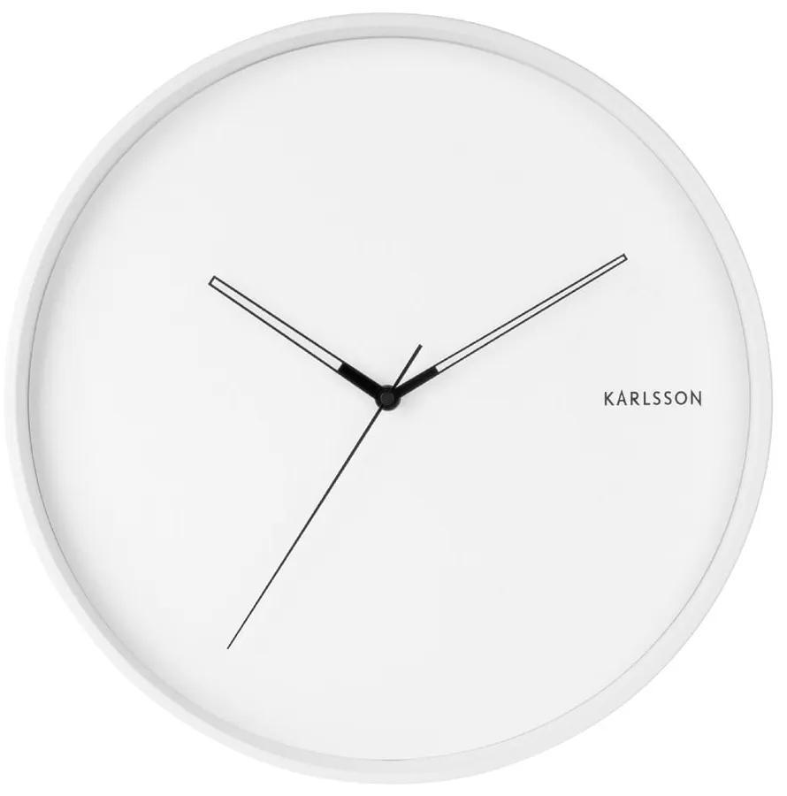Biele nástenné hodiny Karlsson Hue, ø 40 cm