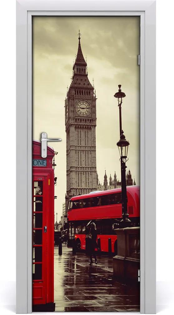 Fototapeta samolepiace na dvere  Elizabeth Tower Londýn