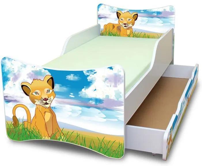 MAXMAX Detská posteľ so zásuvkou 160x70 cm - LEVÍK 160x70 pre všetkých ÁNO