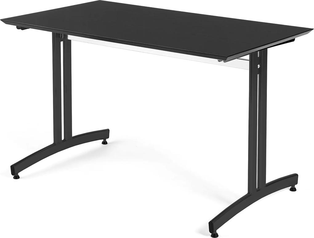 Jedálenský stôl Sanna, 1200x700 mm, čierna / čierna