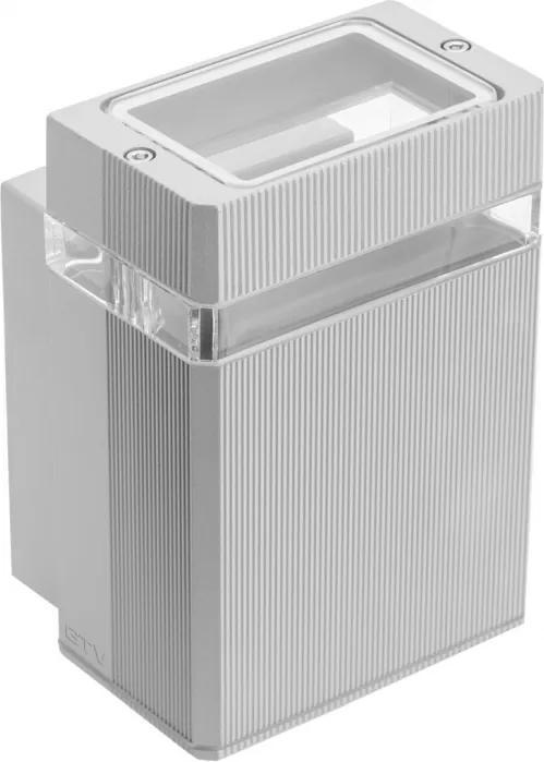 Nástenné vonkajšie svietidlo GTV Nessa LD-NESSAGU10J-80 IP54 50W šedá