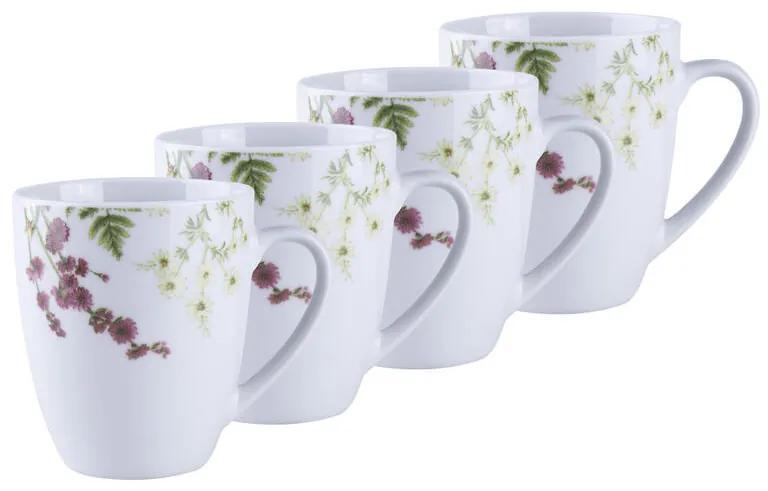 Sada porcelánových hrnčekov HERBAL GARDEN 380 ml 4 ks