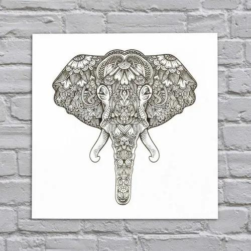 3D drevený gravírovaný obraz na stenu - Slon