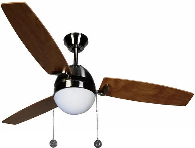 """LUCCI AIR BOREAS 512105 48"""" matný chróm/jilm Reverzný stropný ventilátor"""
