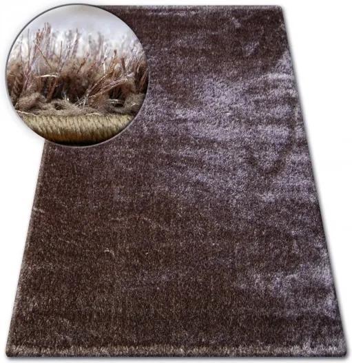 3kraft Kusový koberec SHAGGY VERONA MIKE hnědý
