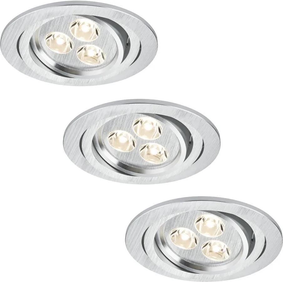 Paulmann Paulmann 92530 - SADA 3x LED podhľadové svietidlo PREMIUM LINE 3xLED/3W/230V BA0103