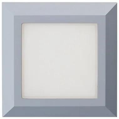 EMITHOR 48315 LED Svietidlo na stenu štvorcové/nepr. IP65, 3.5W, 230lm, 4000K, Sivá farba, 125x125x27mm