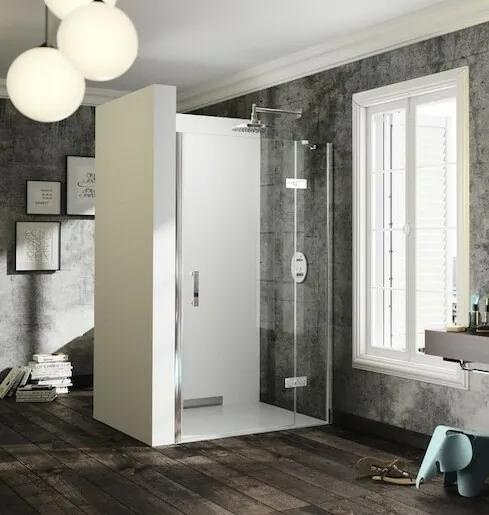 Sprchové dvere Huppe jednokrídlové 140 cm, sklo číre, chróm profil, pravé ST0506.092.322