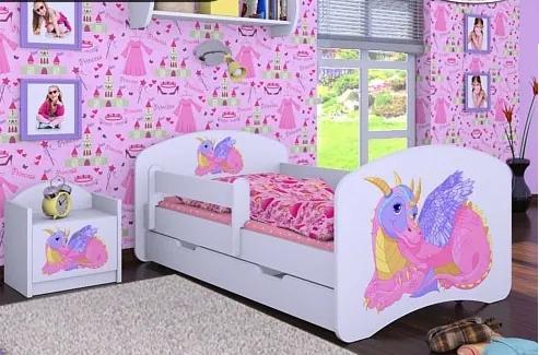 MAXMAX Detská posteľ so zásuvkou 140x70 DRAK